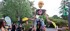 Giant puppet at Adelaide Zoo Boo At The Zoo Halloween event